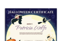 Free Printable Halloween Award Certificate Template The with regard to Halloween Certificate Template