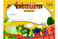 Free Printable Kindergarten Diploma Certificate 2  Two pertaining to Kindergarten Completion Certificate Templates