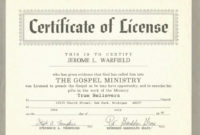 Free Printable Ordination Certificate New Minister License inside Printable Ordination Certificate Templates