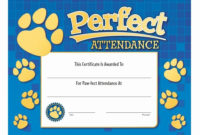 Free Printable Perfect Attendance Award Certificates with regard to Quality Perfect Attendance Certificate Template