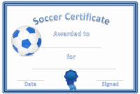 Free Printable Soccer Certificates Elegant Soccer Award with Awesome Soccer Award Certificate Template