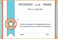 Free Printable Student Of The Month Certificate Templates pertaining to Academic Achievement Certificate Templates