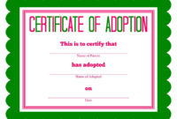 Free Printable Stuffed Animal Adoption Certificate In 2020 inside Quality Puppy Birth Certificate Free Printable 8 Ideas