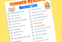 Free Printable Summer Reading Bucket List  Money Saving with regard to Awesome Summer Reading Certificate Printable