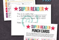 Free Printable Super Reader Kit With Reading Log with Summer Reading Certificate Printable