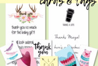 Free Printable Thank You Cards  Tags In 2020  Printable within Baby Shower Gift Certificate Template