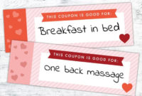 Free Printable Valentine'S Day Coupon Book  Last Minute within Best Valentine Gift Certificate Template