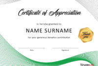 Free Printable Volunteer Certificates Of Appreciation with regard to Certificate Of Appreciation Template Free Printable