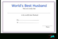 Free Printable World'S Best Husband Certificates inside Awesome Free Printable Best Wife Certificate 7 Designs