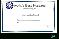 Free Printable World'S Best Husband Certificates pertaining to Free Love Certificate Templates