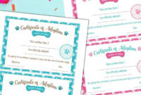 Free Puppy Adoption Certificate And Adopt A Puppy for Dog Adoption Certificate Free Printable 7 Ideas