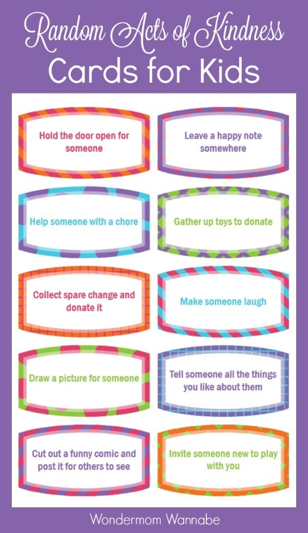 Free Random Acts Of Kindness Cards For Kids pertaining to Free Certificate For Take Your Child To Work Day
