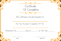 Free Sample Certificate Of Completion Template within Printable Free Certificate Of Completion Template Word