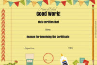 Free School Certificates  Awards within Physical Education Certificate Template Editable