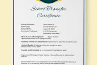Free School Transfer Certificate Template  Word Doc for Leaving Certificate Template