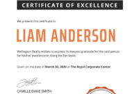 Free Simple Certificate Of Excellence Template In 2020 pertaining to Free Certificate Of Excellence Template