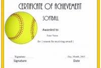 Free Softball Certificate Templates 1 Dengan Gambar intended for Softball Certificate Templates Free