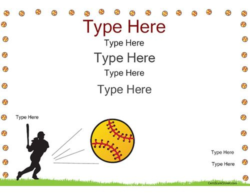 Free Softball Certificate Templates 1 with regard to Best Printable Softball Certificate Templates