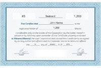 Free Stock Certificate Online Generator With Certificate throughout Best Ownership Certificate Templates