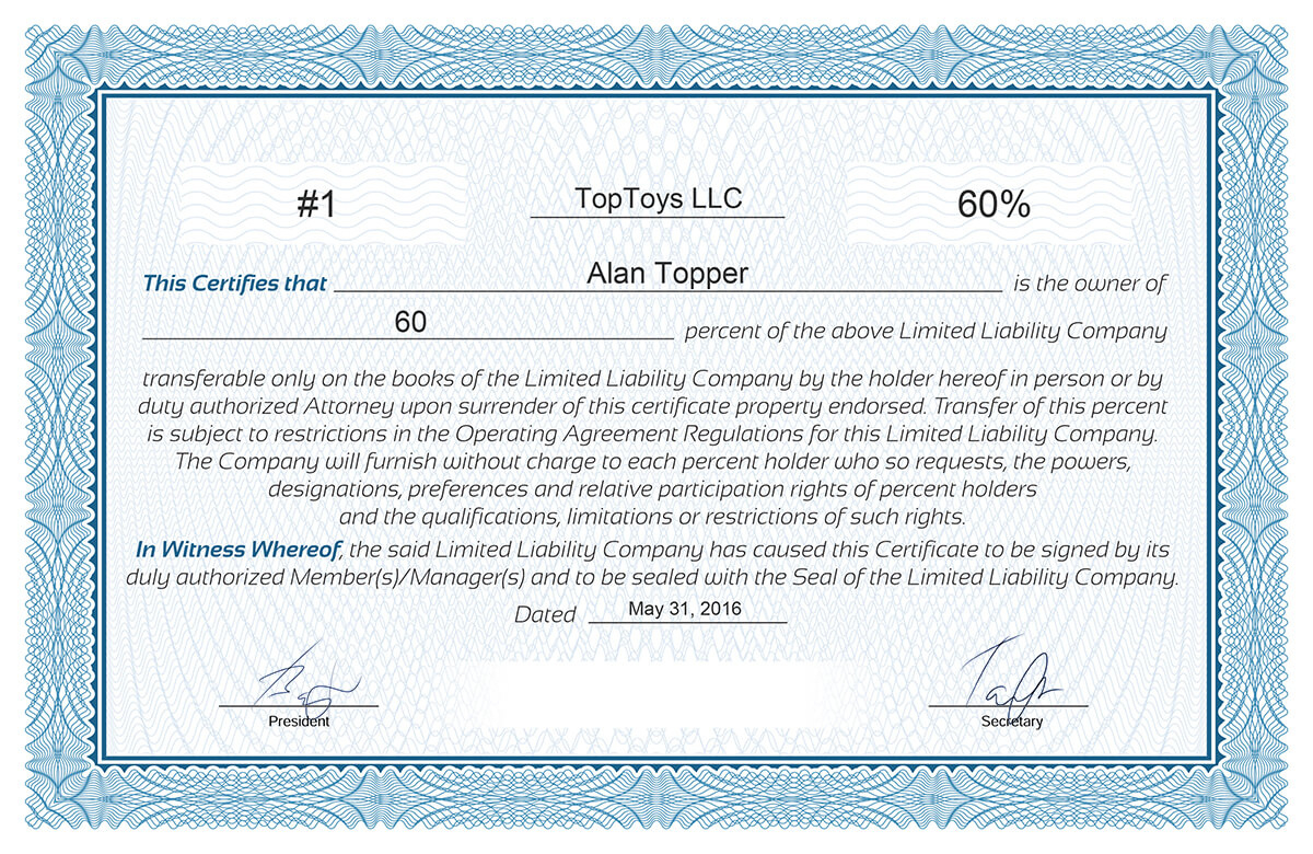 Free Stock Certificate Online Generator Within Certificate regarding Ownership Certificate Templates