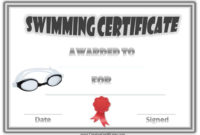 Free Swimming Certificate Templates  Customize Online with Swimming Award Certificate Template