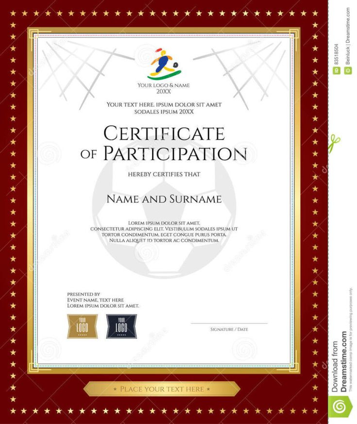 Free Templates For Certificates Of Participation  Cumed inside Printable Certificate Of Participation In Workshop Template