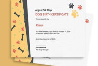 Free Templates  Template  Birth Certificate Template in Printable Dog Birth Certificate Template Editable