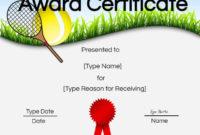 Free Tennis Certificate Customize Online Print With Regard regarding Amazing Tennis Tournament Certificate Templates
