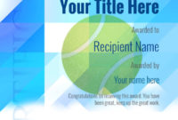 Free Tennis Certificate Templates  Add Printable Badges intended for Tennis Certificate Template