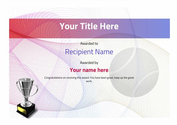 Free Tennis Certificate Templates  Add Printable Badges within Awesome Printable Tennis Certificate Templates 20 Ideas