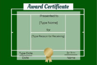 Free Tennis Certificates  Edit Online And Print At Home for Amazing Tennis Tournament Certificate Templates