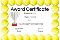 Free Tennis Certificates  Edit Online And Print At Home for Printable Tennis Certificate Template Free
