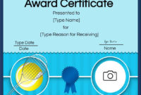Free Tennis Certificates  Edit Online And Print At Home in Tennis Certificate Template