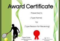 Free Tennis Certificates  Edit Online And Print At Home inside Printable Tennis Certificate Template Free