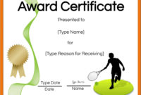 Free Tennis Certificates  Edit Online And Print At Home intended for Awesome Printable Tennis Certificate Templates 20 Ideas