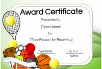 Free Tennis Certificates  Edit Online And Print At Home with regard to Tennis Certificate Template Free