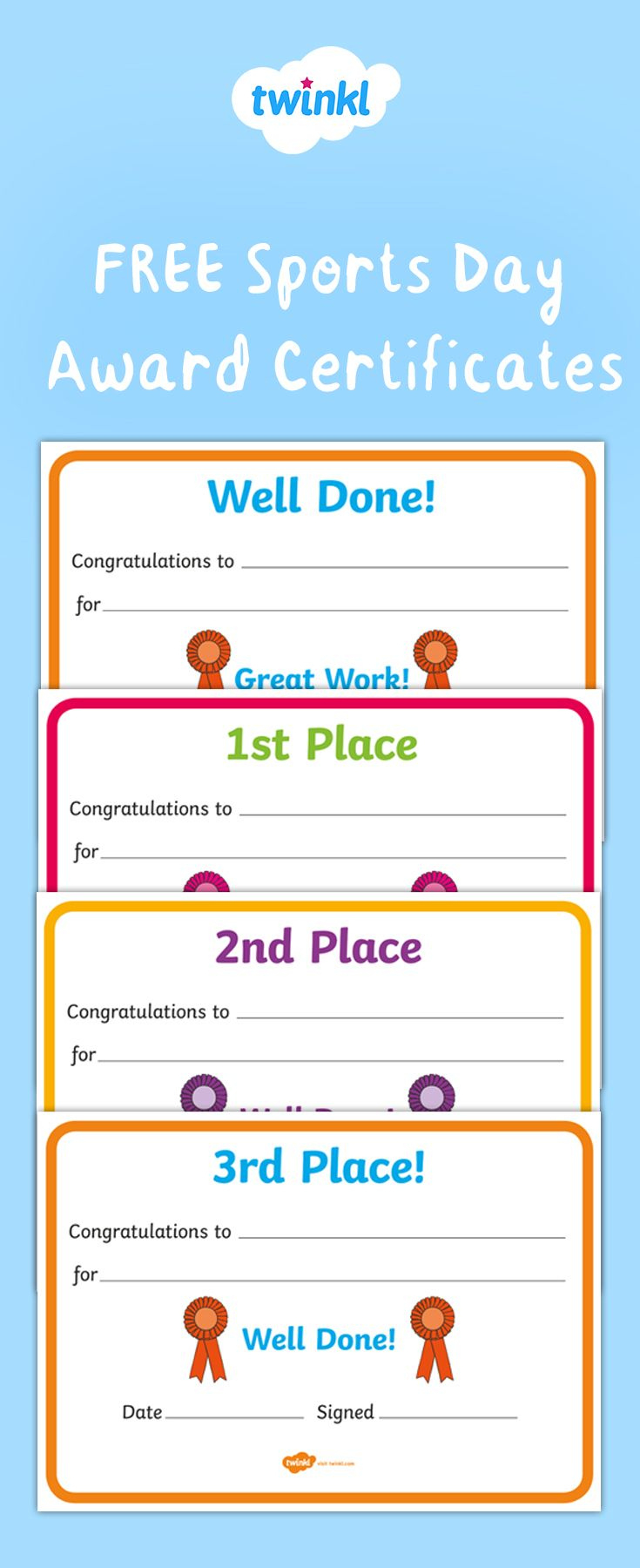 Free To Download Motivate And Inspire Your Children To regarding Amazing Sports Day Certificate Templates