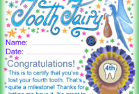 Free Tooth Fairy Certificate Template  Professional Template inside Quality Free Tooth Fairy Certificate Template