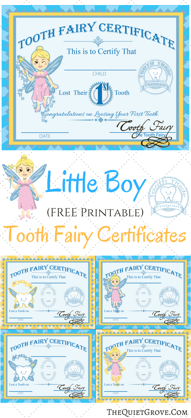 Free Tooth Fairy Certificate Template regarding Quality Free Tooth Fairy Certificate Template