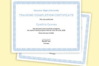 Free Training Completion Certificate Templates  Pdf inside Free Training Completion Certificate Templates