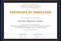 Free Training Completion Certificate With Images inside Printable Training Completion Certificate Template