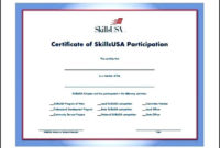 Free Training Participation Certificate Word Format within Printable Certificate Of Participation In Workshop Template