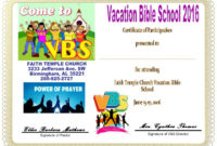 Free Vbs Certificate Templates  Best Templates Ideas inside Free Vbs Certificate Template