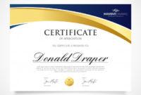 Free Vector  Elegant Appreciation Certificate Template regarding Gratitude Certificate Template