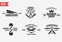 Free Vintage Barbershop Logo Templates  Creativetacos regarding Amazing Barber Shop Certificate Free Printable 2020 Designs