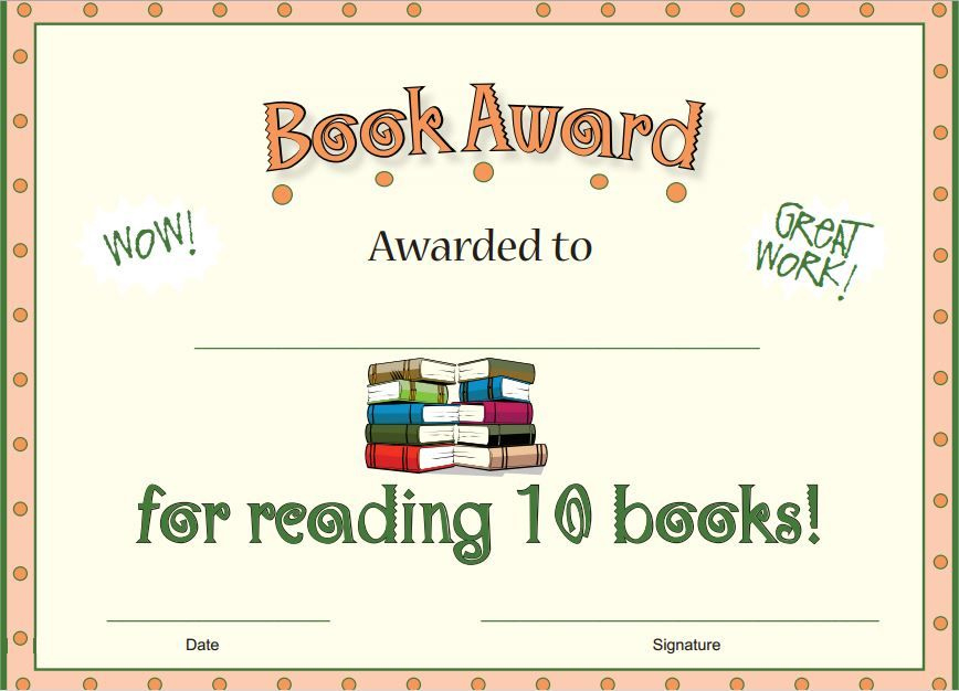 Free Wonderful Reading Award For Students Who Have Read pertaining to Amazing Accelerated Reader Certificate Template Free