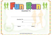Fun Run Award Certificate Template Download Printable Pdf pertaining to Running Certificates Templates Free