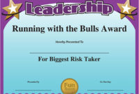 Funny Award Ideas Certificate Of Leadership in Quality Student Leadership Certificate Template Ideas