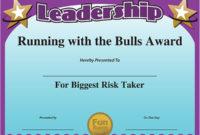 Funny Award Ideas Certificate Of Leadership with regard to Leadership Award Certificate Templates