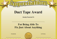 Funny Award Ideas within Free Printable Funny Certificate Templates